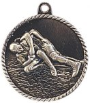 High Relief Medallion - Wrestling High Relief Medallion Awards