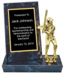 Black Marble Finish Stand-up Plaque Trophy Karate Trophy Awards