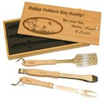 BBQ Set in Wooden Box Kitchen Gifts