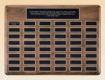 American Walnut Perpetual Plaque Medium Perpetual Plaques