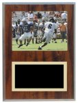 Cherry Finish Photo Frame Plaque Military Trophy Awards