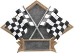 Racing - Diamond Plate Resin Trophy Moto-Cross Trophy Awards