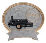 Legend BBQ Grill Oval Award Oval Resin Trophy Awards