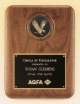 American Walnut Plaque with Eagle Medallion Patriotic Awards