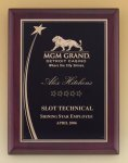 Shooting Star Rosewood Piano Finish Plaque Patriotic Awards