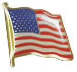 USA Flag Pin Patriotic Awards