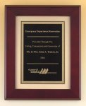 Rosewood Piano Finish Plaque with Florentine Plate Piano Finish Plaques