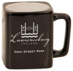 Black Ceramic Square Mug Promotional Mugs
