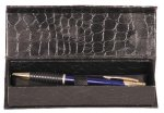 Leather Finish Pen Case Promotional Pens