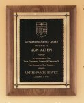 American Walnut Plaque with Antique Bronze Frame Religious Awards