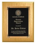 Gold Washed Oak Recognition Plaque Religious Awards