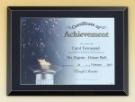 Black Glass Certificate Plaque Sales Awards