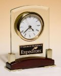 Glass Clock Secretary Gift Awards