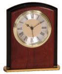 Mahogany Finish Square Arch Clock Award Secretary Gift Awards