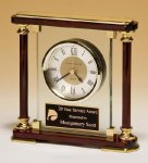 Piano-Finish Mantle Clock Secretary Gift Awards