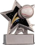 Baseball - Silver Star Motion Resin Series Silver Star Motion Resin Trophies