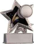 Golf - Silver Star Motion Series Resin Silver Star Motion Resin Trophies