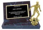 Black Marble Finish Stand-up Plaque Trophy Soccer Trophy Awards