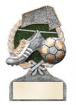Soccer Multi Color Sport Resin Figure Soccer Trophy Awards