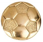 Gold Soccer Metal Chenille Letter Insignia Soccer Trophy Awards