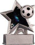 Soccer - Silver Star Motion Series Resin Star Awards