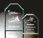 Beveled Clipped Corner Plaque Traditional Acrylic Awards
