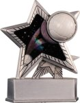 Volleyball - Silver Star Motion Series Resin Volleyball Trophy Awards