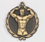 Wreath Body Builder Male Medal Wreath Awards