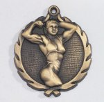 Wreath Body Builder Female Medal Wreath Awards