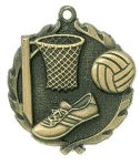 Wreath Netball Medals Wreath Medal Awards