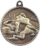 High Relief Medallion - Wrestling Wrestling Trophy Awards